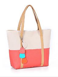 Erlen Women's Korean Style Contrast Color Splicng Heart Tote/One Shoulder Bag(Sreen Color)