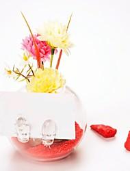 centros de mesa florero de cristal / deocrations mesa titular placecard (arena incluida, las flores no incluido)