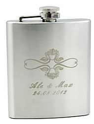 Personalized Stainless Steel 7-oz Flask - Rose