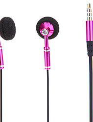 3.5mm Plug In-ear Earphone with Volume Control for Cell Phone (Pink)