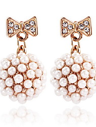 Mingluan Pearl Gold Earrings 801010179