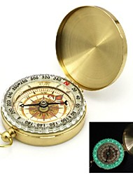 Flip-ouvert plaqué or noctilucent Pocket Compass