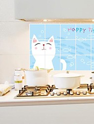 doudouwo ® animaux le chat mignon anti-pétrole stickers muraux