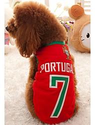 Cute Padrão Copa do Mundo Petary Pet malha Vest para o cão