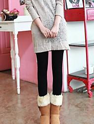 Sólido de lã colorida Leggings quentes das mulheres