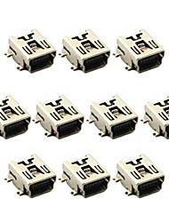 Jtron Mini 5-Pin SMD USB Socket  (10 PCS)