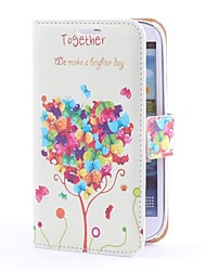 Tree Heart Style PU Leather Case with Card Slot and Stand for Samsung Galaxy S3 i9300