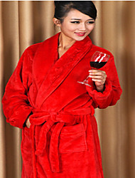 Bath Robe Red,Solid High Quality 100% Polyester Towel
