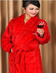 Peignoir Rouge,Solide Haute qualité 100 % Polyester Serviette
