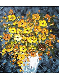 Hand Painted Knife Foral  Painting with Stretched Frame Ready to Hang