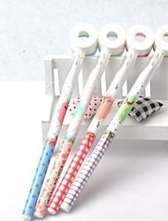 Kaleidoscope Design Plastic Black Ink Gel Pen(Random Color)