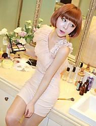 Frauen-Oblique-Paket-Hüfte-Kleid