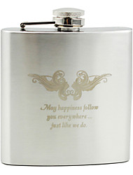 Personalized Stainless Steel 6-oz Flask - Inseparable King Bird