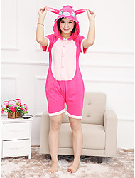 Kigurumi Pajamas Monster Leotard/Onesie Festival/Holiday Animal Sleepwear Halloween Pink Patchwork Cotton Kigurumi For UnisexHalloween /