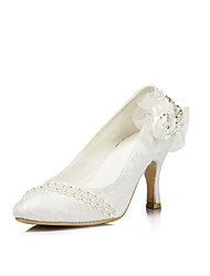 Women's Shoes Satin Spring / Summer / Fall Heels Wedding / Party & Evening Stiletto Heel Rhinestone Pink / Purple / Red / Ivory / White