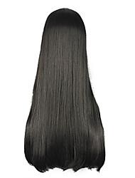 High Quality Cosplay Synthetic Wig Harajuku Style Lolita Black Full Bang Long Wig