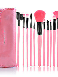 MAKE-UP FOR YOU 12PCS Pink Professional Makeup Brush Set