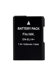 Camera Battery EN-EL14 for Nikon D3100 D5100 D3200 P7000 P7100 (7.4V 1030mAh)