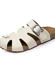 Men's Shoes Casual Leather Sandals/Slippers Brown/Yellow/White
