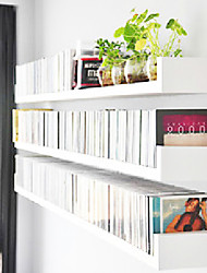 Modern Dimensional Solid White Book Wall Mounted Storaging Shelf