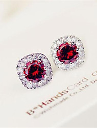 Daphne Luxury Simple Banquet Zircon Stud(Screen Color)