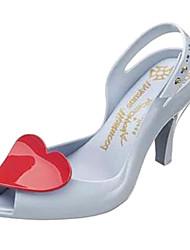 Plastic Frauen Kitten Heel Peep Toe Sandalen Schuhe (weitere Farben)