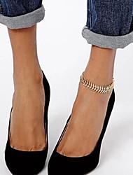 shixin® douces simples chaîne femmes de forme en arête de poisson alliage d'or aux pieds nus sandales (27cm * 2cm * 2cm) (1 pc)