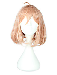 Cosplay Wigs Beyond the Boundary Cosplay Pink Short Anime Cosplay Wigs 40 CM Heat Resistant Fiber Male