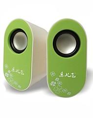 Music-M-23L High Quality Stereo USB 2.0Multimedia Speaker  (Green)