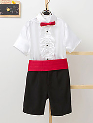 Polester/Cotton Blend Ring Bearer Suit - 4 Pieces Includes  Shirt / Pants / Waist cummerbund / Bow Tie