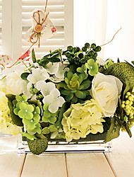 """9""""H Green Forest Style Table-flower Bouquet (Type B)"""