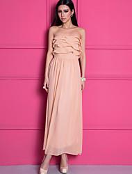 GMFI Rüschen Weinlese-Kleid