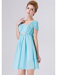 Frauen-Partei-Kleid der Trauzeugin High-grade-Paket Schulter kurzes Kleid