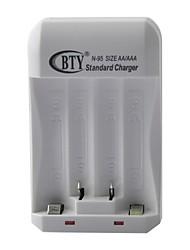 4 Bay Chargeur universel pour AAA / AA Ni-MH / batterie Ni-Cd / Plug US - Blanc (100-240V)