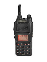 "MEGAXUN MT-UV-18 7W 1.4 ""LCD 200-CH Dual Band Dual Display Walkie-Talkie w / VOX / Rádio - Preto"