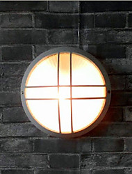 Outdoor Wall Light, 1 Luce, pittura moderna in alluminio Vetro