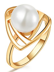 Women's Gold/Silver Ring Imitation Pearl Gold/Silver