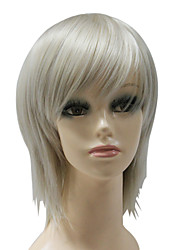 Capless Synthetic Dark Grey Short Straight Synthetic Hair Wig