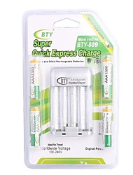 BTY-809 Battery Charger for AA AAA Battery with US Plug(Included 4xAAA)
