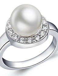 Women's Silver Ring Imitation Pearl Silver