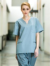 Медицинская одежда женская шесть карманов V-образным вырезом скраб набор