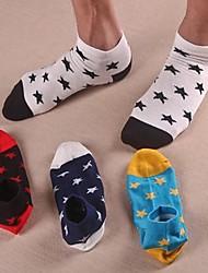 calcetines de algodón cortas de los hombres (5 pares / paquete)