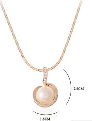 Estilo de la manera del collar pendiente de la aleación de la perla de imitación de la joyería de
