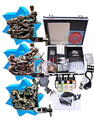 tattoo machine kit aangevuld set met 3 tattoo pistool machines