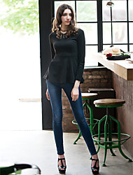 V-neck Long Sleeve Sexy Swing Top