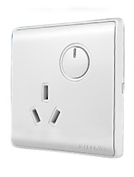 One Button Double Control Switch Socket Panel with LED Indicator Light Switch