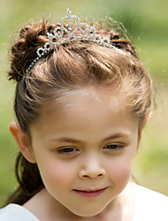 Classic Alloy With Rhinestone Flower Girl Tiaras / Headbands