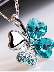 LILAIMEI delle donne di cristallo Amore collana diamante di modo