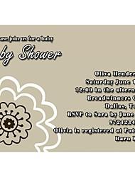 Convites de casamento Convites para Chá de Bebê Cartão Raso Personalizado