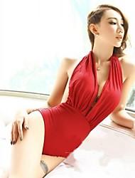 Mulheres Sexy Biquini Hot Uma peça Corset Teddy Swimsuit